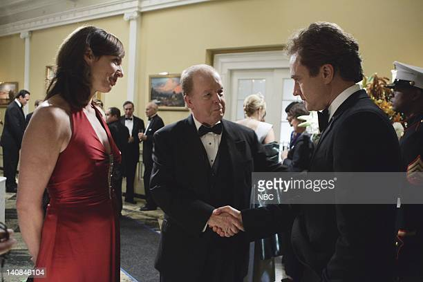 WING The Wedding Episode 9 Air Date Pictured Allison Janney as Claudia Jean 'CJ' Cregg John Aylward as Barry Goodwin Former DNC Chair Bradley...