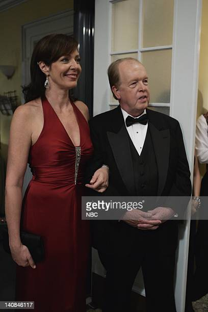 WING 'The Wedding' Episode 9 Air Date Pictured Allison Janney as Claudia Jean 'CJ' Cregg John Aylward as Barry Goodwwin Former DNC Chair Photo by...