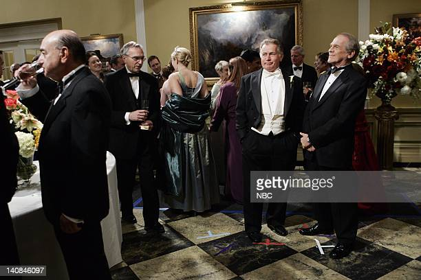 WING The Wedding Episode 9 Air Date Pictured Martin Sheen as President Josiah Jed Bartlet John Spencer as Leo McGarry Photo by Mitch Haddad/NBCU...