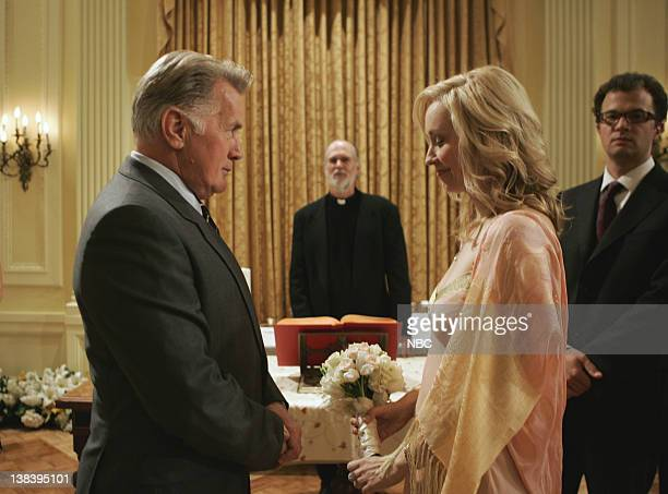 WING The Wedding Episode 9 Aired 12/4/05 Pictured Martin Sheen as President Josiah Jed Bartlet Nina Siemaszko as Eleanore 'Ellie' Bartlet Ben Weber...