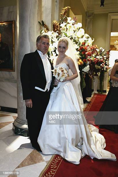 WING The Wedding Episode 9 Aired 12/4/05 Pictured Martin Sheen as President Josiah Jed Bartlet Nina Siemaszko as Eleanore 'Ellie' Bartlet
