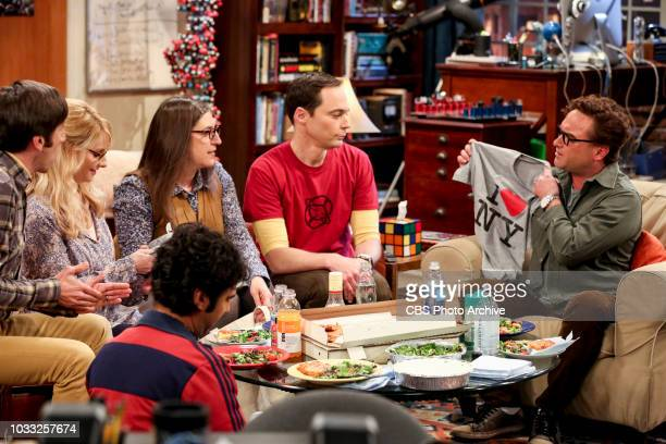 'The Wedding Gift Wormhole' Pictured Amy Farrah Fowler Sheldon Cooper and Leonard Hofstadter Sheldon and Amy drive themselves crazy trying to figure...