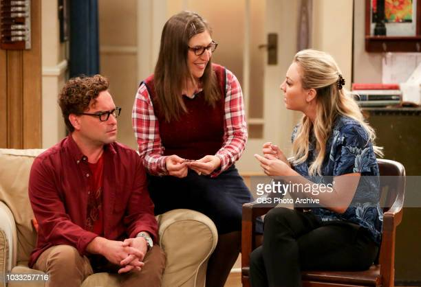''The Wedding Gift Wormhole' Pictured Leonard Hofstadter Amy Farrah Fowler and Penny Sheldon and Amy drive themselves crazy trying to figure out what...