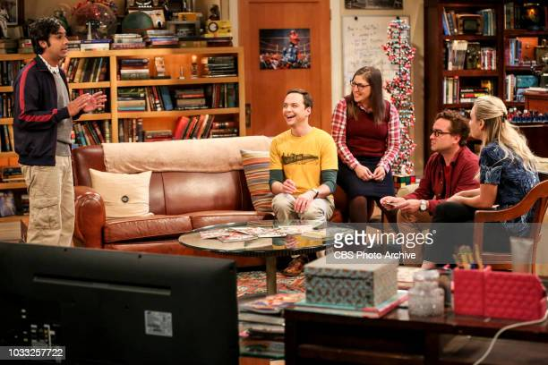 ''The Wedding Gift Wormhole' Pictured Rajesh Koothrappali Sheldon Cooper Amy Farrah Fowler Leonard Hofstadter and Penny Sheldon and Amy drive...