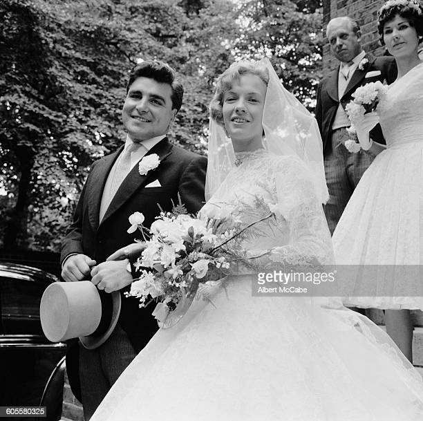 The wedding of actress Adrienne Scott and England rugby trialist and Wasps forward Gordon Benson London UK 23rd August 1958