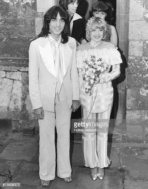 The wedding of American singer Lorna Luft and Jake Hooker lead guitarist of The Arrows at the church of AllHallowsbytheTower in London on Valentine's...