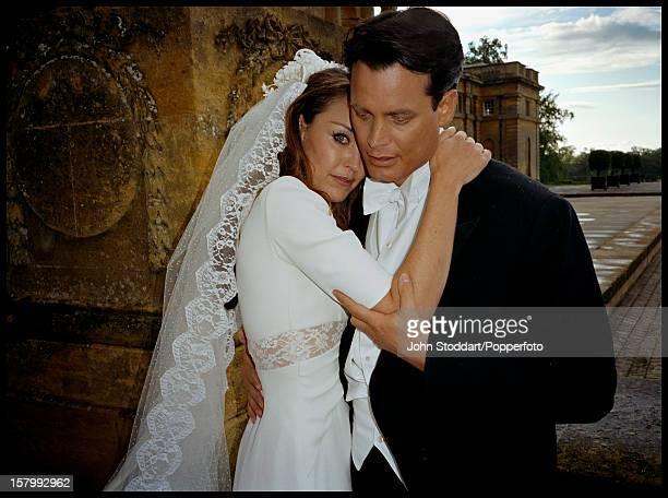 The wedding of banking heir Matthew Mellon and Tamara Yeardye later Tamara Mellon cofounder of Jimmy Choo at Blenheim Palace UK May 2000