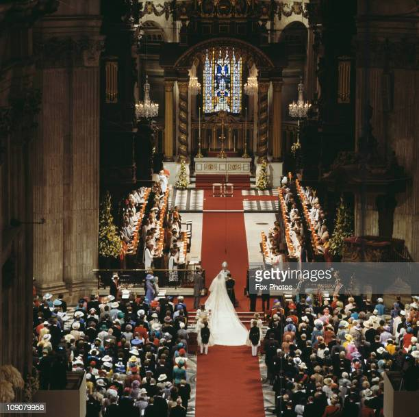 The wedding of Charles Prince of Wales and Lady Diana Spencer in St Paul's Cathedral London 29th July 1981