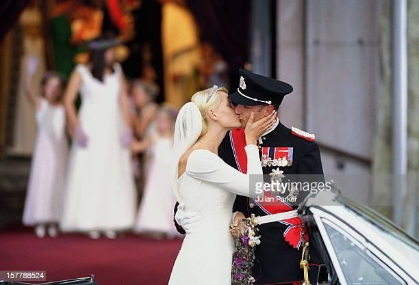 The Wedding Of Crown Prince Haakon Of Norway & Mette-Marit In Oslo.
