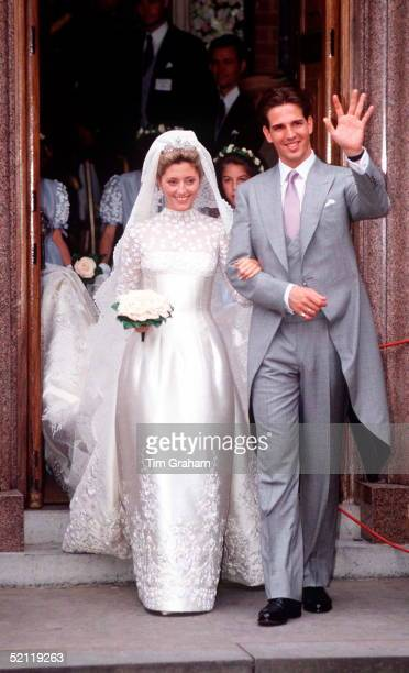 The Wedding Of Crown Prince Pavlos Of Greece And Marie-chantal At St Sophia Greek Cathedral, London.