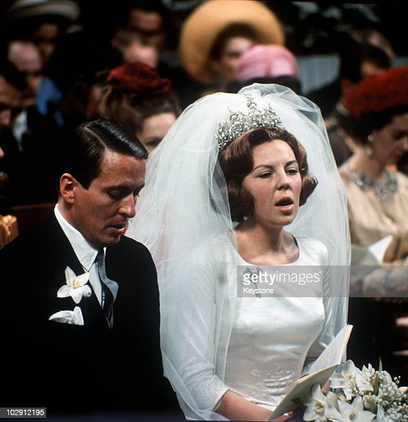 The wedding of Crown Princess Beatrix of the Netherlands to Claus von Amsberg in the Town Hall in Amsterdam, Holland, 10 March 1966.