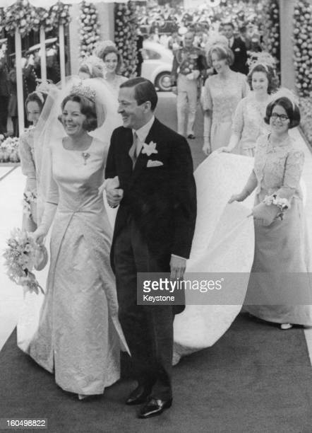 The wedding of Crown Princess Beatrix of the Netherlands to Claus von Amsberg in Amsterdam Holland 10th March 1966