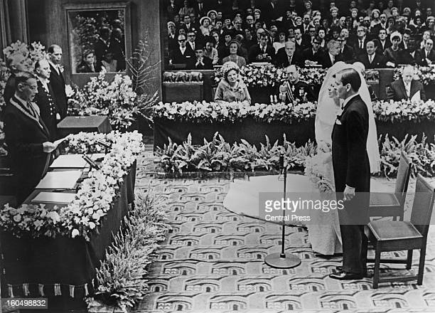 The wedding of Crown Princess Beatrix of the Netherlands to Claus von Amsberg in the Town Hall in Amsterdam Holland 10th March 1966
