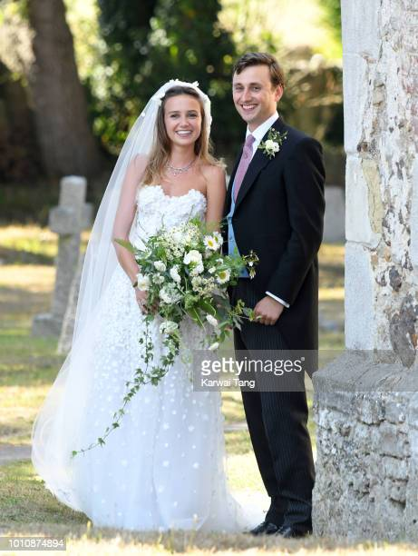 The wedding of Daisy Jenks and Charlie Van Straubenzee at Saint Mary The Virgin Church on August 4 2018 in Frensham United Kingdom Prince Harry...