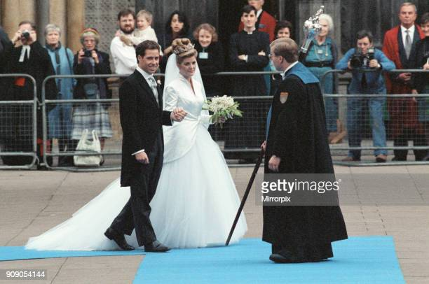 The Wedding of David ArmstrongJones Viscount Linley to Serena Stanhope at St Margaret's Church Westminster 8th October 1993