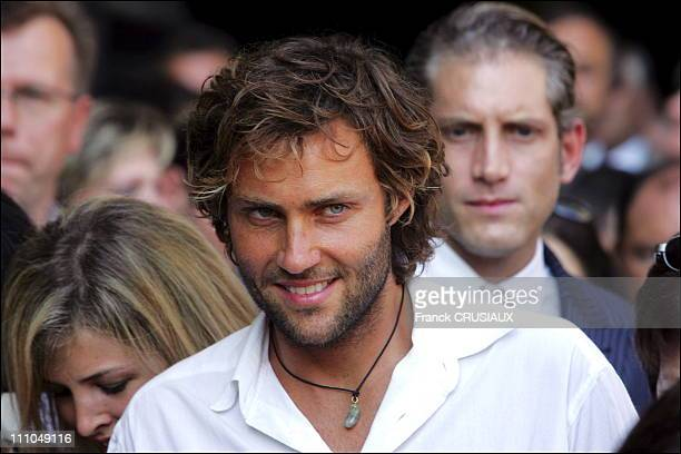 The wedding of Elodie Gossuin and Bertrand Lacherie in Compiegne France on July 01st 2006