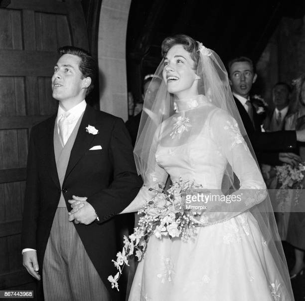The wedding of Julie Andrews and Tony Walton at St Mary Oatlands Church, Weybridge, Surrey, 10th May 1959.