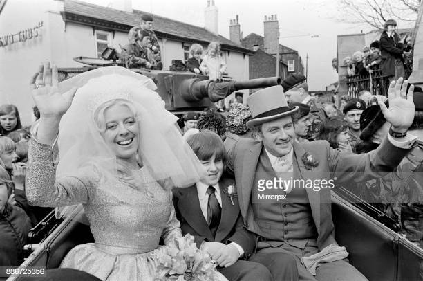 The wedding of Julie Goodyear and Tony Rudman The marriage was over later that day 21st April 1973