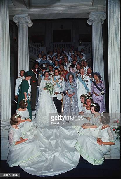 The wedding of King Constantine born in 1940 and king of Greece 19641973 He married Princess AnneMarie youngest daughter of Frederik IX of Denmark In...