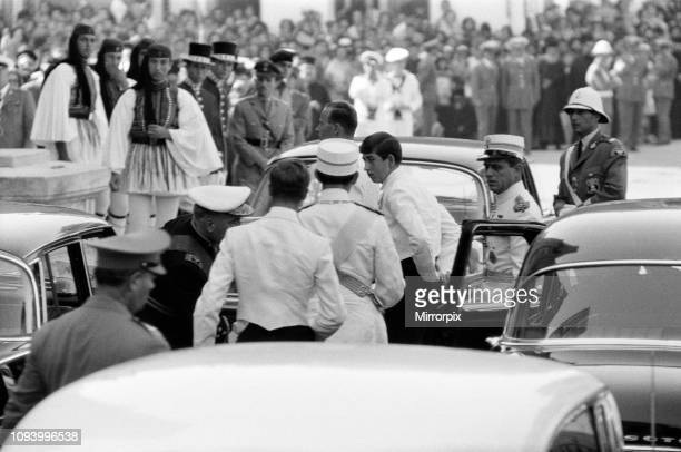 The wedding of King Constantine II of Greece to Princess Anne-Marie of Denmark, Athens, Greece, 18th September 1964; Prince Charle arrives at the...