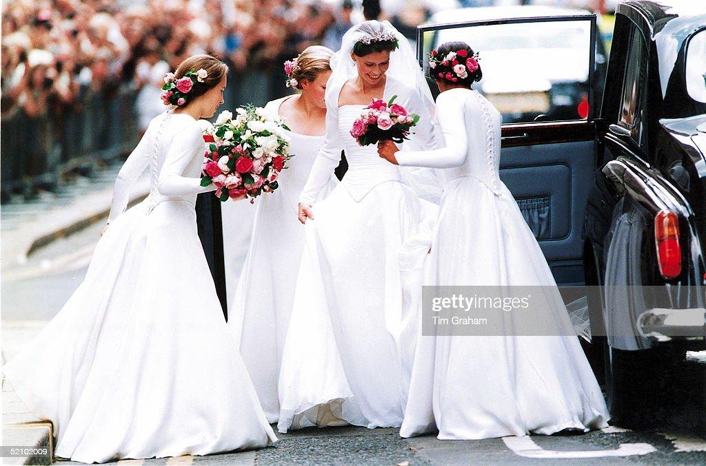 Lady Sarah Armstrong-jones  Wedding : News Photo