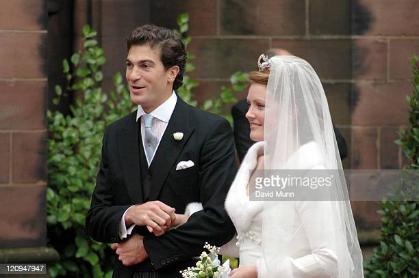 The wedding of Lady Tamara Katherine Grosvenor and Edward Bernard Charles van Cutsem at Chester Cathedral on Saturday November 6 2004