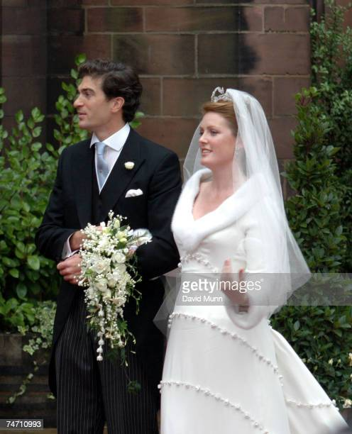 The wedding of Lady Tamara Katherine Grosvenor and Edward Bernard Charles van Cutsem at Chester Cathedral on Saturday November 6 2004 during the Lady...
