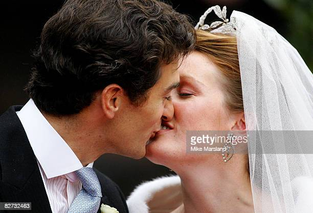 The wedding of Lady Tamara the eldest daughter of The Duke and Duchess of Westminster and Edward van Cutsem at Chester Cathedral on Saturday November...