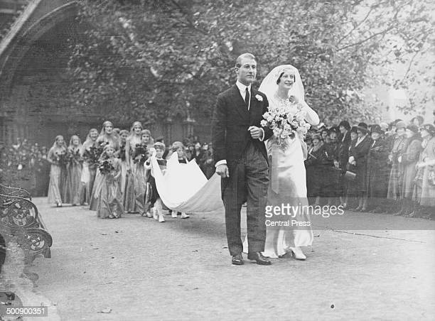 The wedding of Lord O'Neill and Anne Charteris 1932