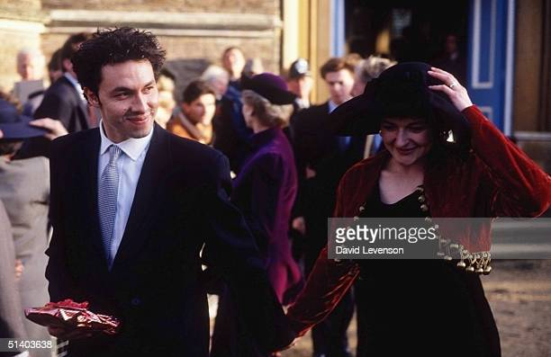 The wedding of Marina Ogilvy the daughter of Princess Alexandra to Paul Mowatt on February 2 1990 in Richmond Surrey