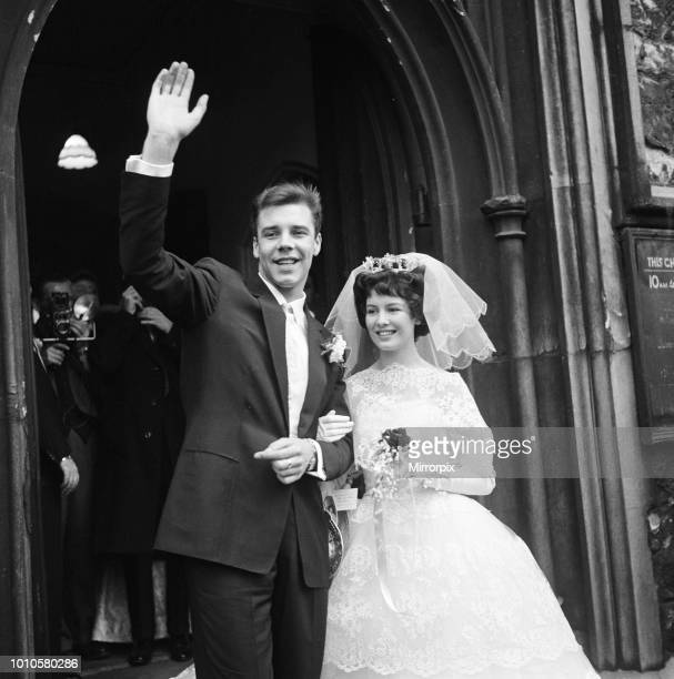 The wedding of Marty Wilde and Joyce Baker held at Christ Church in Greenwich 2nd December 1959