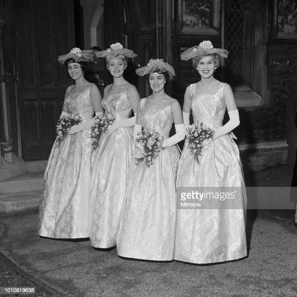 The wedding of Marty Wilde and Joyce Baker held at Christ Church in Greenwich Some of The Vernon girls as Bridesmaids 2nd December 1959