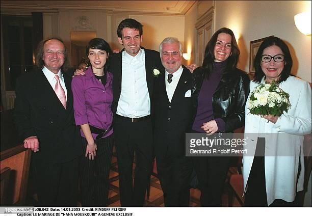 "The wedding of ""Nana Mouskouri"" in Geneva bouquet of flowers."