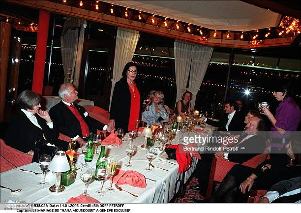 The wedding of Nana Mouskouri in Geneva