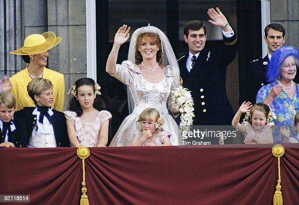 The Wedding Of Prince Andrew And Sarah Ferguson Peter Phillips Is Second From The Left And His Sister Zara Who Was A Bridesmaid Is In Front Of The...