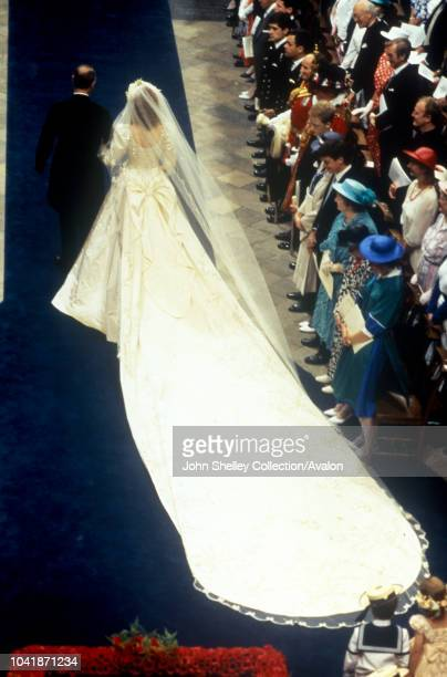 The wedding of Prince Andrew Duke of York and Sarah Ferguson at Westminster Abbey London UK 23rd July 1986