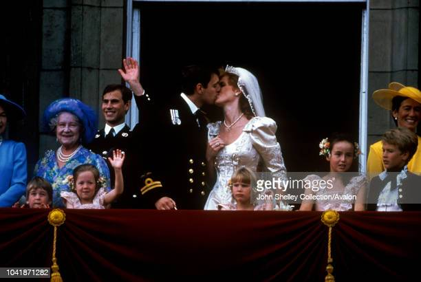 The wedding of Prince Andrew, Duke of York, and Sarah Ferguson at Westminster Abbey, London, UK, 23rd July 1986.