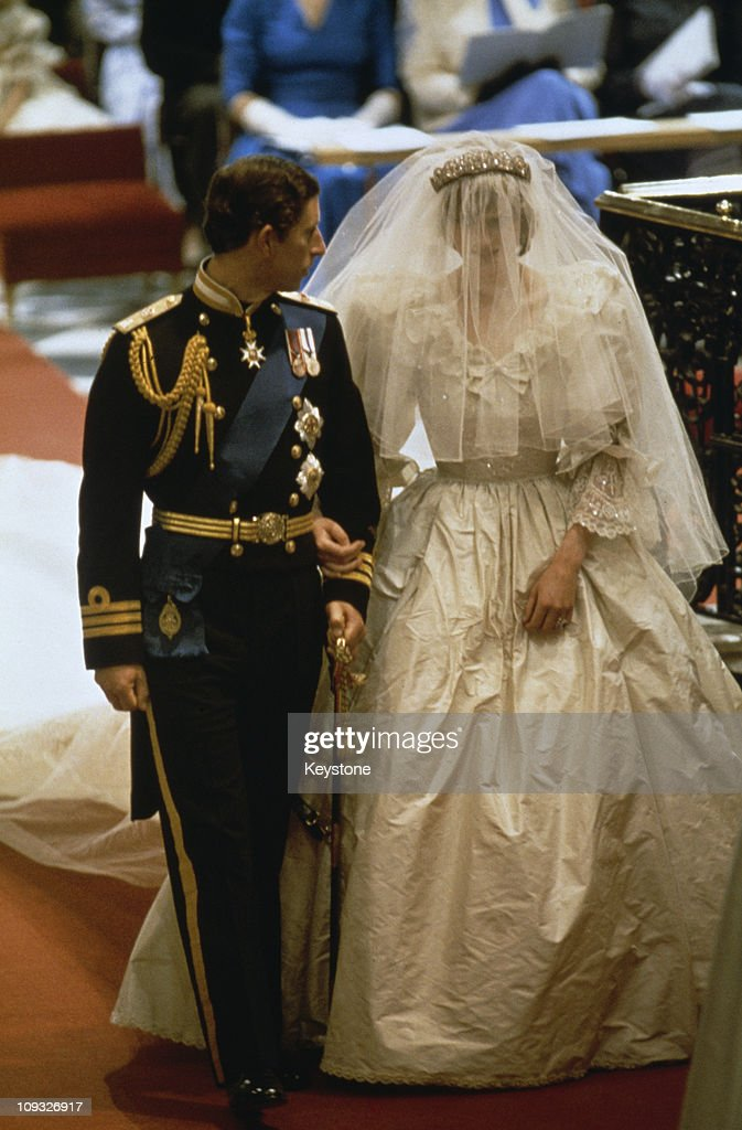 The wedding of Prince Charles and Lady Diana Spencer at St Paul's Cathedral in London, 29th July 1981.
