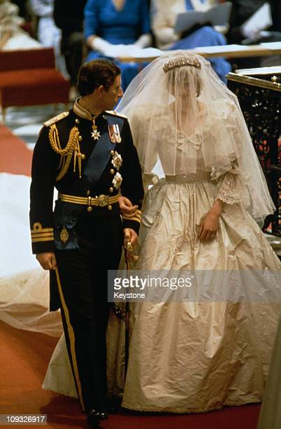 The wedding of Prince Charles and Lady Diana Spencer at St Paul's Cathedral in London 29th July 1981