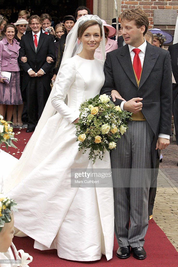 The Wedding Of Prince Floris & Aimee Sohngen At The Grote Kerk In Naarden : News Photo