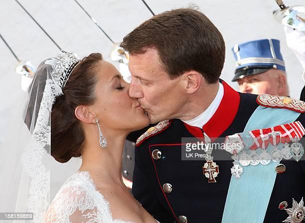 The Wedding Of Prince Joachim Of Denmark And Miss Marie Cavallier At Mogeltonder Church In Mogeltonder, Denmark.