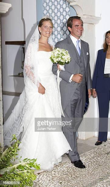 The Wedding Of Prince Nikolaos Of Greece And Tatiana Blatnik At The Monastery Of Ayios Nikolaos On The Island Of Spetses, Greece.
