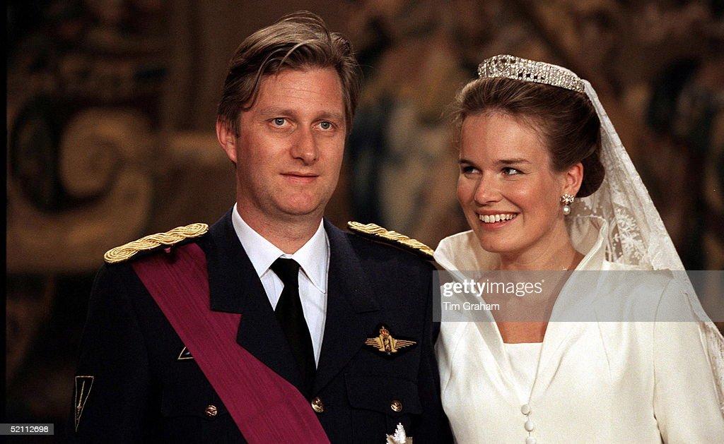 The Wedding Of Prince Philippe Of Belgium And Miss Mathilde D'udekem D'acoz.