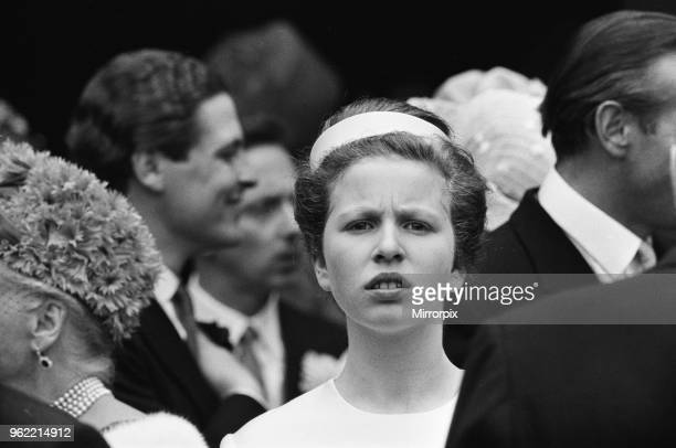 The wedding of Princess Alexandra of Kent and Angus Ogilvy at Westminster Abbey. Pictured is Bridesmaid Princess Anne, Princess Royal, 24th April...
