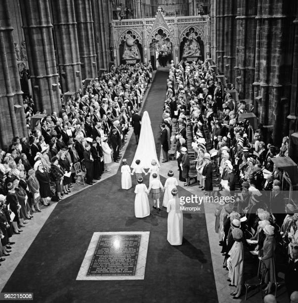 The wedding of Princess Alexandra of Kent and Angus Ogilvy at Westminster Abbey 24th April 1963