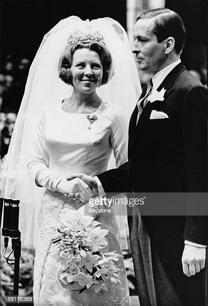 The wedding of Princess Beatrix, later Queen Beatrix of the Netherlands and Claus van Amsberg in Amsterdam, 10th March 1966.