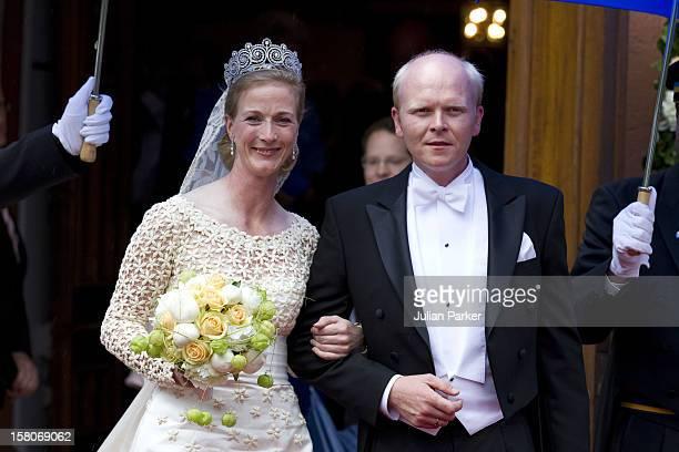 The Wedding Of Princess Nathalie Of Sayn-Wittgenstein -Berleburg, To Alexander Johannsmann At The Protestant Church In Bad Berleburg.