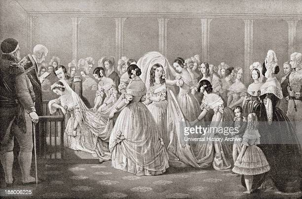 The Wedding Of Queen Victoria And Prince Albert In 1840 From The Strand Magazine Published 1897