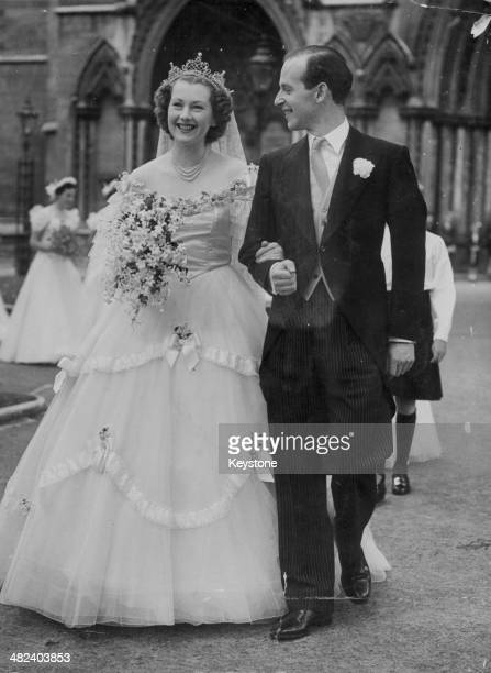 The wedding of Raine Spencer and Gerald Legge Earl of Dartmouth St Margaret's Church Westminster London July 21st 1948