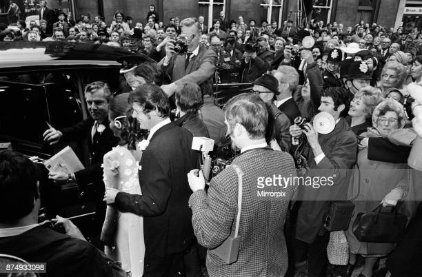 The wedding of Roger Moore and Luisa Mattioli at Caxton Hall 11th April 1969